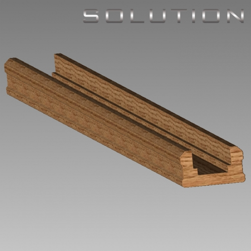 Solution Oak Stair baserail