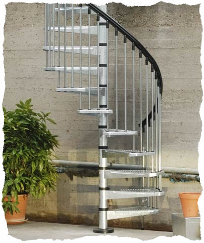 External Spiral Staircases | Arke Spiral stair Kit | Civic zink ...