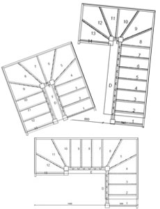loft stairs on double winder staircases left turn no handrail double winder stair