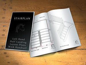 half landing staircase design plans