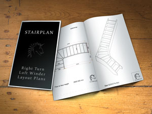 Right turn loft winder stair design catalogue