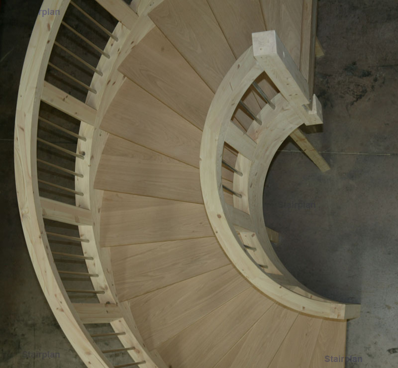 Curved Staircases Wreathed Oak Staircase