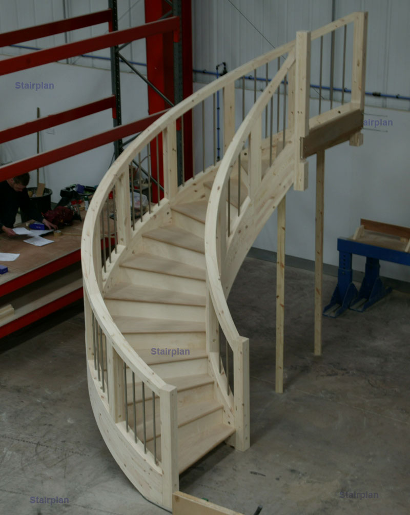 Stairplan c staircase feature geometric circular staircase for Curved stair case