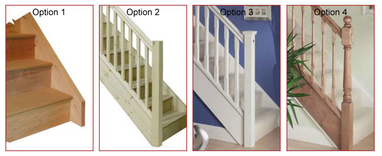Handrail choices for fix screw offer winder staircases