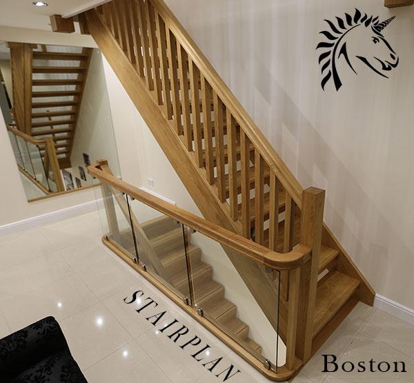 Openplan Boston Oak Open Rise Staircase