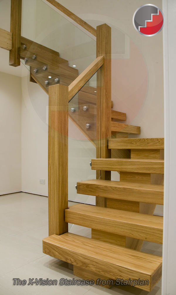 X Vision Staircase Ultimate Modern Oak Staircase