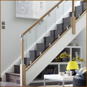 Fusion Stair Balustrade with Glass