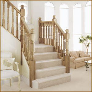 Heritage Oak Stair Balustrades