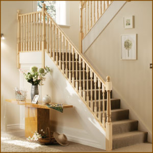 Pine Stair Balustrade