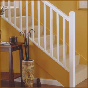 Genial White Primed Stair Balusters