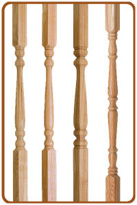 Ash stair spindles from the cheshire collection