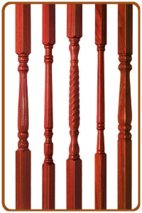 Hardwood stair spindles from cheshire mouldings
