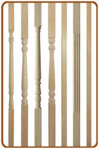 Genial Pine Stair Spindles, Hemlock Staircase Spindles ...