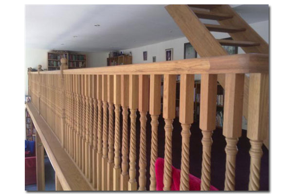 Oak Rope Twist Stair Spindles