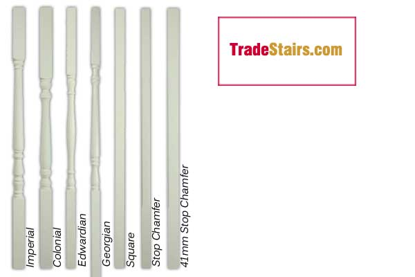 ready primed stair spindles