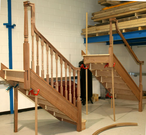 Hardwood stair strings