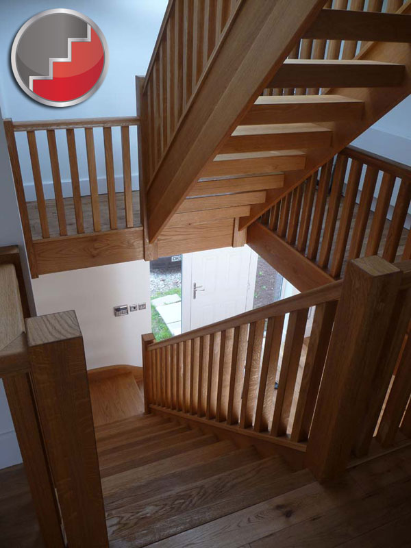 oak open townsend staircase