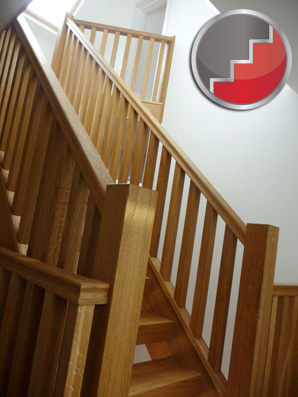 Oak straight townsend staircase