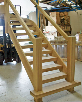 Oak towsend staircase in the workshop