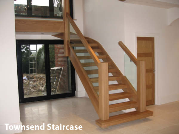 Perfect Oak Townsend Staircase With Open Risers