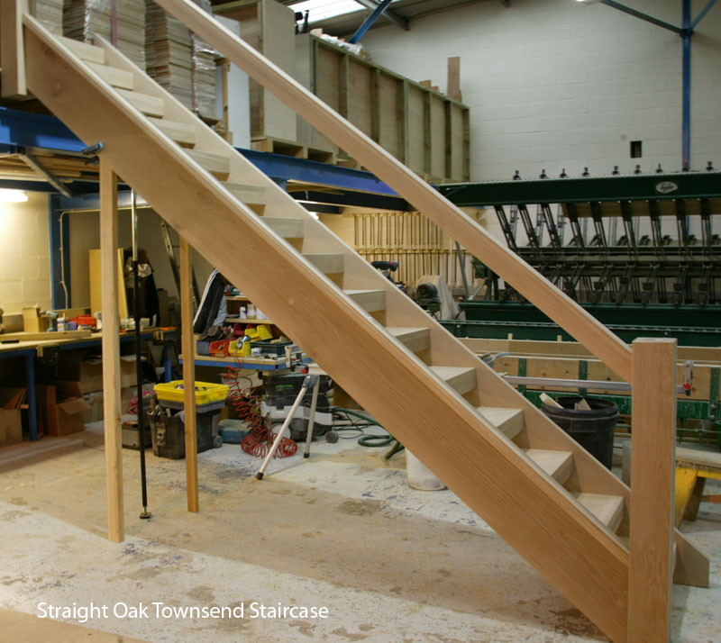 straight Oak Townsend Staircase