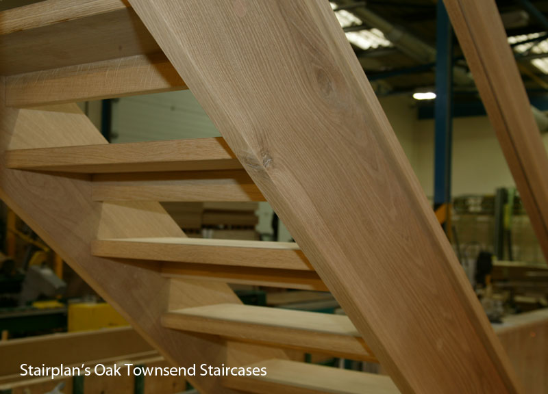 High Quality Townsend Oak Staircase Open Treads