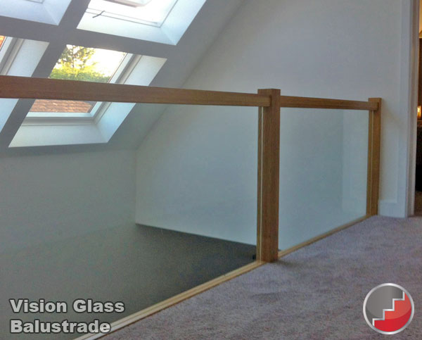 Glass Staircase Panels L Groove Recessed Handrails Toughened Glass