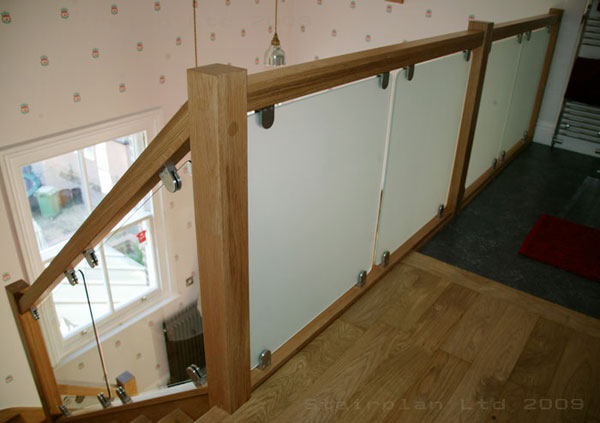 Vision Glass Balustrading With Oak Handrail
