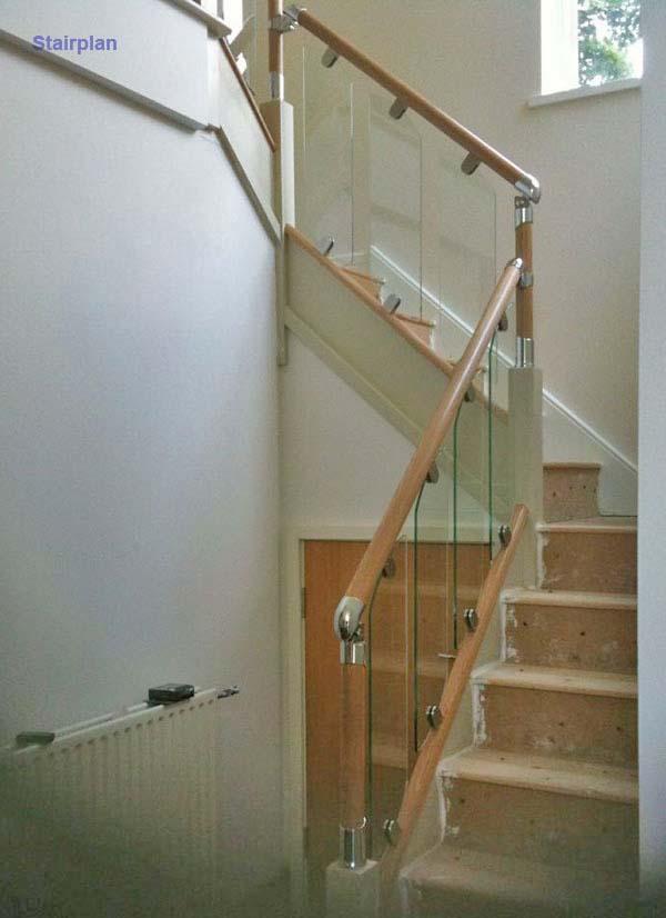 S Vision Glass Balustrading Oak Handrail With Glass