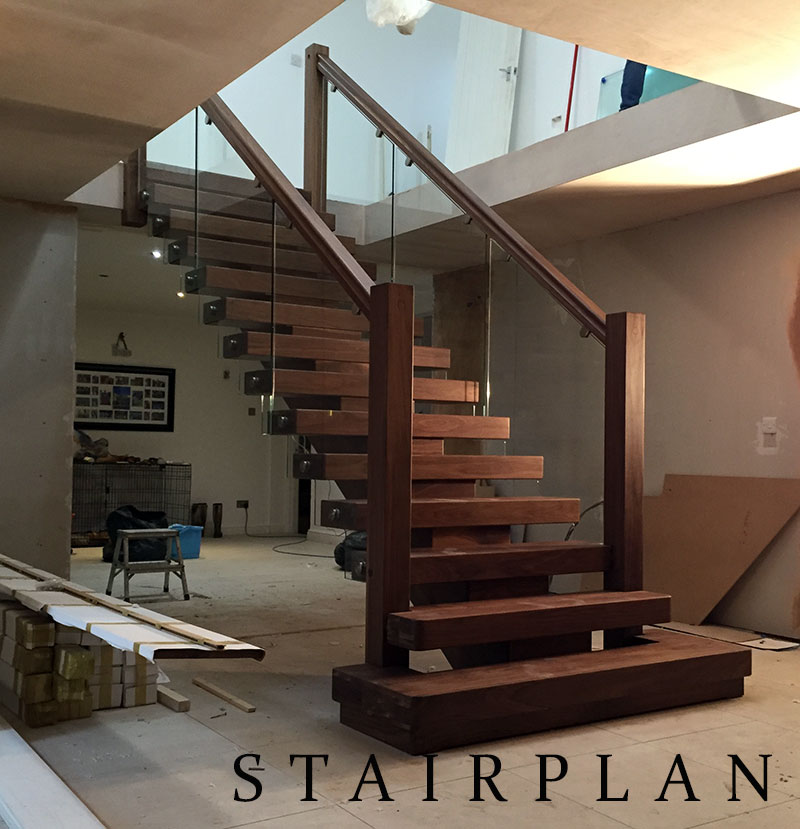 Premium Black walnut staircases
