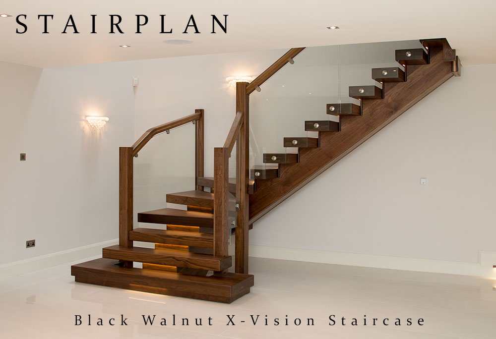 Black Walnut X Vision Staircase