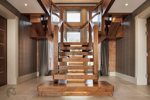 Black Walnut Central Feature Staircase