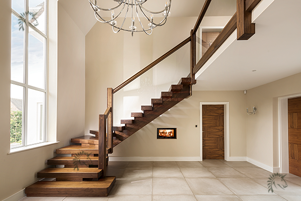 Black Walnut X Vision feature staircase