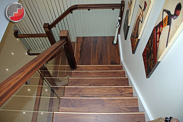 Staircases In Black Walnut The New Vogue Staircase Denver