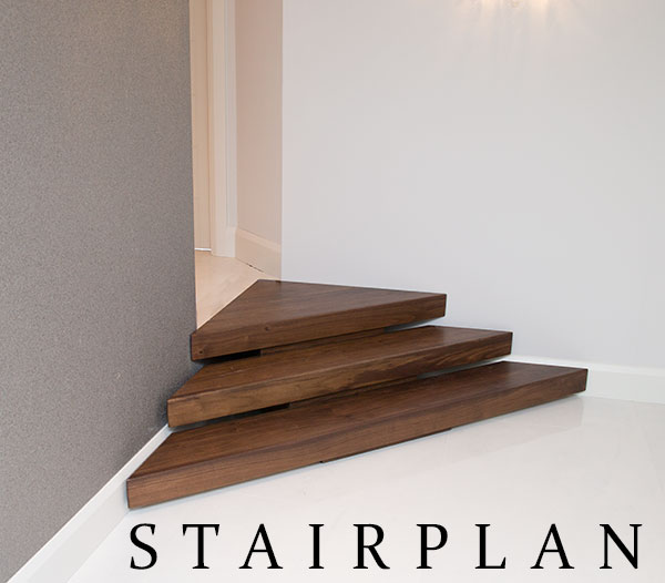Short Staircase set into a corner