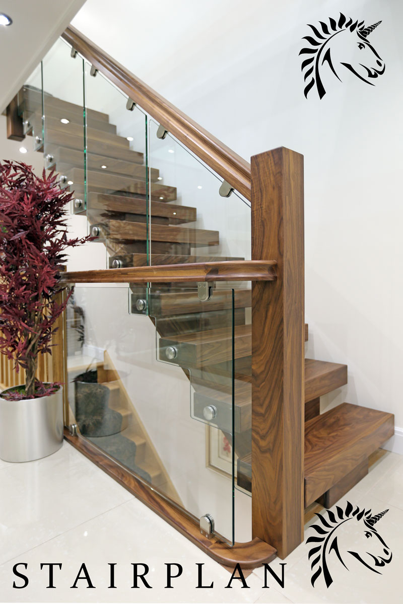X Vision Black Walnut Staircases